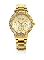 So&Co New York Reloj con movimiento cuarzo japonés Woman Crystal Filled Bezel 38 mm
