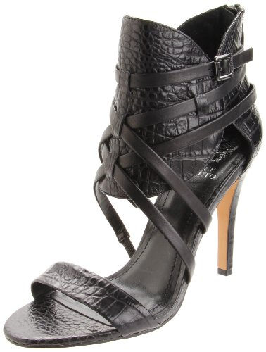 Vince Camuto Women's Aman Ankle-Strap Sandal,Black,7.5 M US