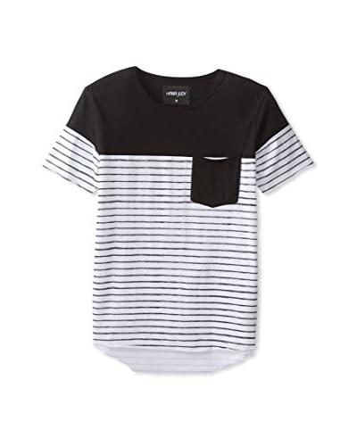 nANA jUDY Men's Faded Stripe T-Shirt