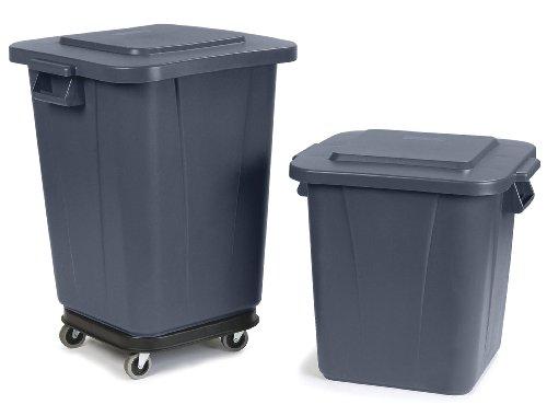 Carlisle 34152823 Bronco Polyethylene Square Waste Container 28 Gal Capacity 20 1 2 X 21 1 4 X 22 1 2 Gray Case Of 6 Check Price Craigupatrickeu