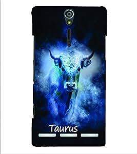 PrintVisa Zodiac Taurus 3D Hard Polycarbonate Designer Back Case Cover for Sony Xperia S :: SL LT26I LT26ii