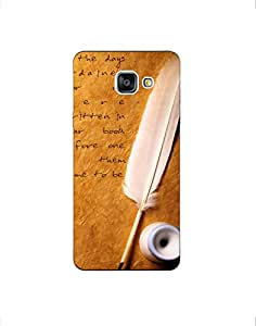 SAMSUNG GALAXY A7(2016) ht003 (163) Mobile Case by Mott2 - Nice Quote - Feath... (Limited Time Offers,Please Check the Details Below)