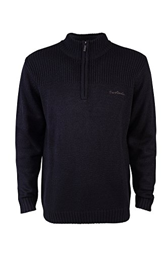 pierre-cardin-mens-new-season-1-4-zip-ribbed-knitted-jumper-2xl-black