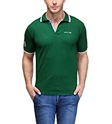 AWG Men's Premium Cotton Polo T-shirt with Embroidery - Green - AWGTS1xl