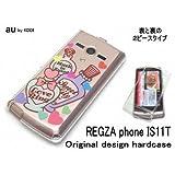 au REGZA phone IS11Tケース・カバー ハードタイプ パフュームイラスト