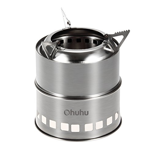 Ohuhu Portable Stainless Steel Wood Burning Camping Stove (Compact Camp Stove compare prices)