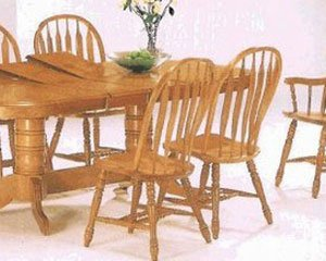 Oak Veneer Dinette Side Chairs By Coaster Furniture