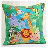 Swayam Kids N More Digital Print Mercerised Cotton 2 Piece Kids Cushion Cover Set - Multicolor (KCC 122-134)