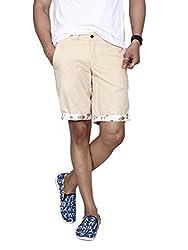 Hammock Men's Reversible Flamingo and Solid Chino Shorts - Beige/Cream (36), H21I03J51036
