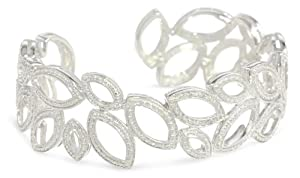 Sterling Silver Diamond Cuff Bracelet (0.10 cttw, I-J Color, I2-I3 Clarity) from Amazon Curated Collection