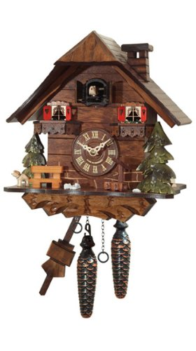 Orignal Black Forest Cuckoo Clock Chalet, 10 Inch