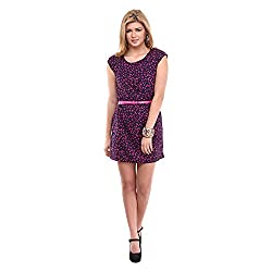 Kaxiaa Polyester Pink Dress For Women (Size-X-Large)