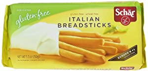 Schar Gluten-Free Italian Breadsticks, 5.3-Ounce Packages (Pack of 5)