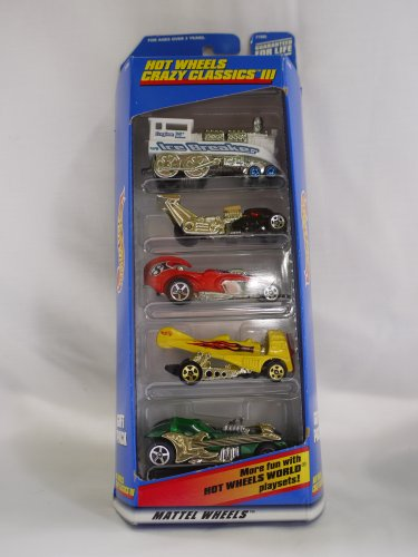Hot Wheels CRAZY CLASSICS III 5 Vehicle Gift Pack (1998) - 1