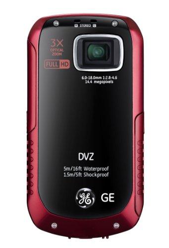 GE DVZ Pocket Camera - Red (15.4MP, 3x Optical Zoom, 6x Digital Zoom) 2.5 inch LCD image