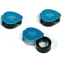 3 Gemologist Loupes 10 X Magnifier Eye Piece Tools