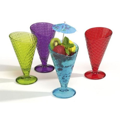 BORMIOLI - Lot de 4 coupes à glace 28 cl coloris assortis - Gelato