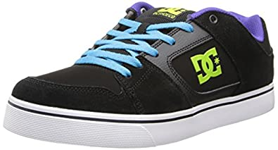 DC Men's Blitz Sneaker,Black/Turquoise/Soft Lime,11 M US