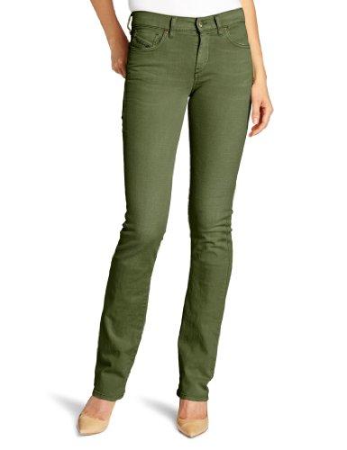 DIESEL - Jeans da Dona BOOTZEE 111D - Regular Slim - Bootcut - Stretch - verde, W32