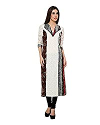 Chiktones Casual, Festive, Party 3/4th Sleeve Printed Women's Kurti XL