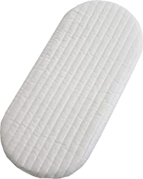 Babies Firsts 74x34x4cm Quilted Microfibre Foam Moses Basket or Pram Mattress Rounded Both Ends