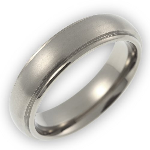 Wedding Ring / Promise Ring / Partner Ring Titanium Core Matted Titanium / Polished TT050.01.m.72