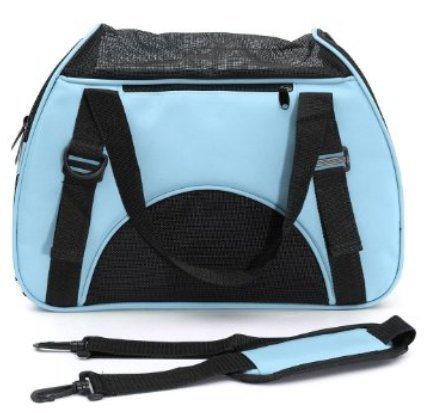 Pet Travel Carrier Bags,Linka Soft Sided Dog Carrier Pet Travel Portable Bag Home for Dogs, Cats and Puppies Foldable Washable Travel Carrier,Outdoor Pet Travel Carrier Mesh Blue
