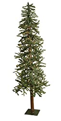 7' Pre-Lit Frosted Alpine Artificial Christmas Tree - Clear Lights