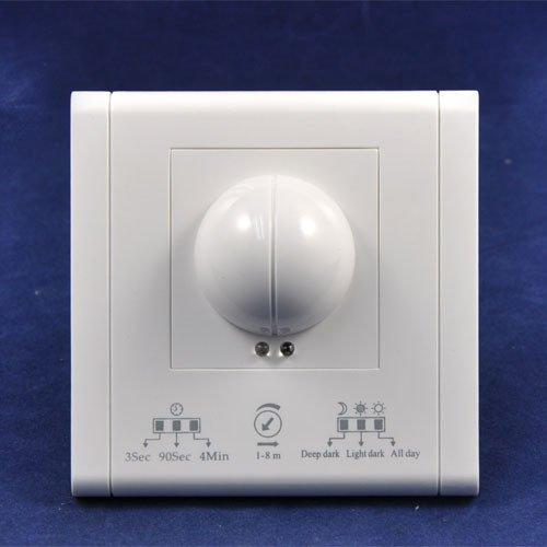 Led Ac220V 50Hz 3Secs-4Mins Time Setting Fluorescent Lamp Led Lighting Wall Munted Type Microwave Radar Sensor Switchkingneonlux
