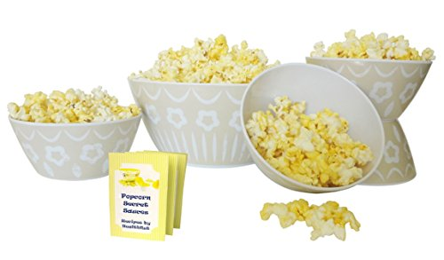Top Stone Set Gourmet Popcorn Snack Bowl Set Family Game Night NFL Football Party Supplies Popular Fun Unique Stocking Stuffer Present Idea Her Dad Grandparent Couple Newlywed Parent Mother Teacher (Chutney Popcorn compare prices)