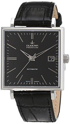 Dugena  Dugena Premium - Reloj de manual para hombre, con correa de cuero, color negro