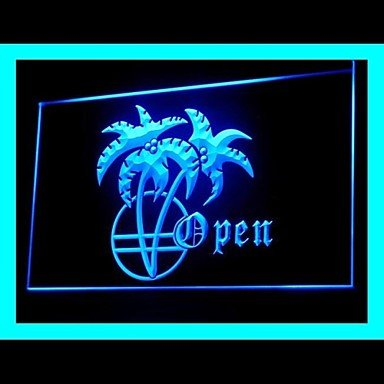 Palm Tree Open Advertising Led Light Sign