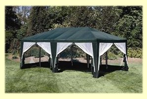 Deluxe Party Tent, Sun Shelter 20ftx12ft Green