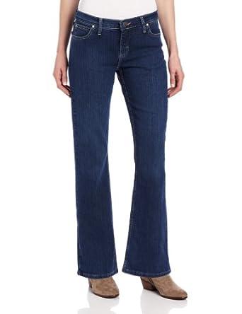 Wrangler Women's As Real as Wrangler Classic Fit Boot Cut Jean, Classic Dark, 10x30