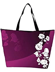 Snoogg Abstract Vector Wallpaper Of Floral Themes In Gradient Purple Waterproof Bag Made Of High Strength Nylon