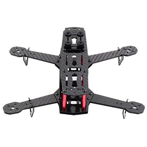 Carbon Fiber DIY Quadcopter Quad Race Copter Frame Kit 250 FPV Race Drone Sport carbon fiber aluminum black - by LC Prime®