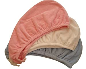 3 pcs/set Touch Me Ultra Absorbent Microfiber Hair Drying Turban, Twist Wrap (WHITE COLOR ONLY)