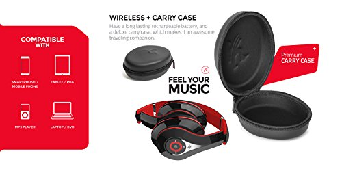 Sentey-B-Trek-H10-Bluetooth-Headphones-Wireless-Headset-Foldable-Gaming-Headset-V40-with-Mic-and-Carrying-Case-LS-4570-v40-with-Improved-Sound-Quality-for-Pc-Mac-SmartPhones-Computers-Men-Kids-Girls