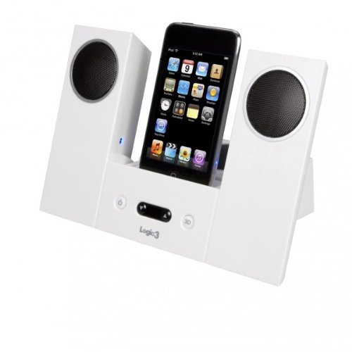 Logic3 i-Station22 MIP022W iPod 12 Watts Speaker Docks with Remote Control - White Black Friday & Cyber Monday 2014