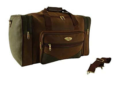 Ultra Strong Large pebble Look Holdall Weekend Travel Bag faux suede Tan/Olive from Compass