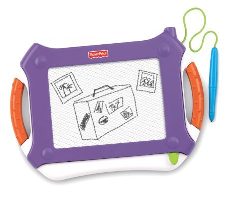 Mess Free Drawing For On The Go - Fisher-Price Travel Doodler Pro - Purple