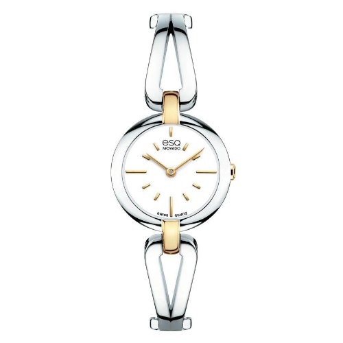 ESQ Movado Women's 07101396 esq Corbel tm Round Two-Tone Watch