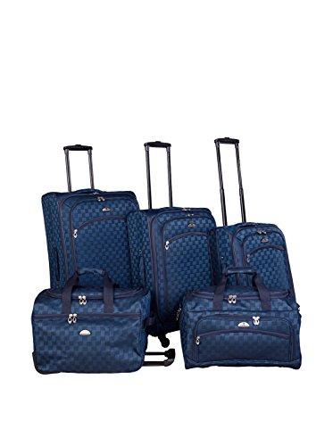 American Flyer 5-Piece Madrid Spinner Luggage Set, Blue
