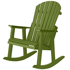 Berlin Gardens Comfo-Back Resin Adirondack Rocker - Kiwi Green