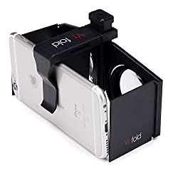 DOMO VR3 nHance VR Fold 3D Video Headset & Universal Virtual Reality 3D for Smart Phones upto 6.5 Screen - Inspired by Google Cardboard, Oculus Rift and Samsung Gear