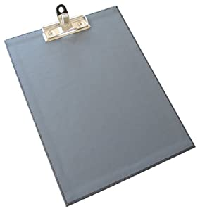 Aurora GB PROformance Styleboard, Clipboard with I-Clip Pen Holder, 8 1/2 x 11 Inch Size, Protrait Orientation, Charcoal, Mallory Embossed, Lava Gray Liner, Eco-Friendly, Recyclable, Made in USA (AUA09290)