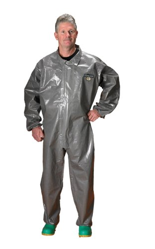 Lakeland ChemMax 3 Heat-Sealed Sealed Seam Coverall, Elastic Cuff, Large, Gray (Case of 6)
