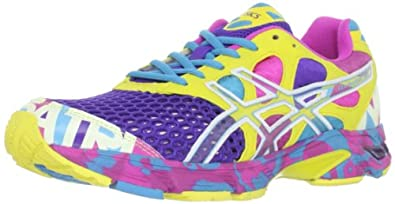 ASICS Women's Gel-Noosa Tri 7 Running Shoe,Electric Purple/White/Sun,6.5 M US