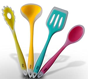 Premium Silicone Cooking Utensil Set Bring A Splash Of Color To Your Kitchen With