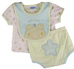 Bon Bebe Baby Boys Frog Creeper Set-6-9 Months